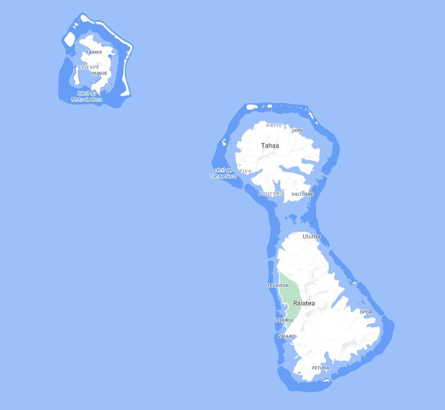 Mission sur Raiatea et Bora Bora