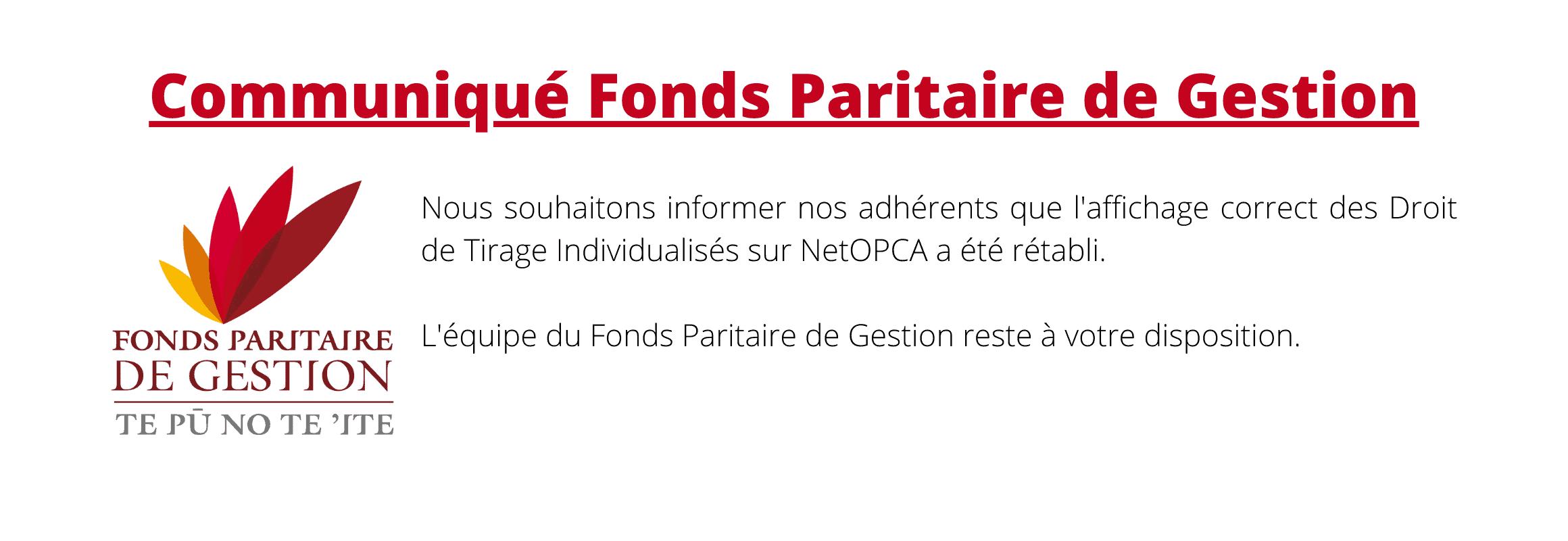 communiqué-fonds-paritaire-de-gestion-affichage-dti-erroné-netopca-retabli